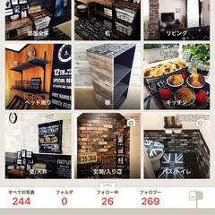 リノベーション/Roomclip/100均/セリア/ダイソー/収納/... RoomClipにわが家の全貌が(⁎˃ᴗ…