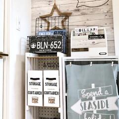 すのこ棚/DIY/100均/セリア/インテリア/収納 以前隙間収納用に作ったすのこ棚は飾り壁の…