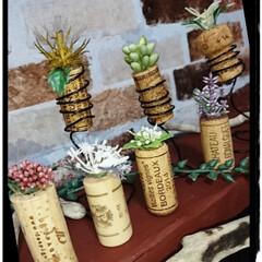 多肉ちゃん/コルクアート/リミアの冬暮らし/DIY/雑貨/ハンドメイド 今日はコルクを使い雑貨作り🛠️ 先日もら…