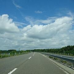 北海道/空/おでかけ 道東道❗走行中! 綺麗な空‼️