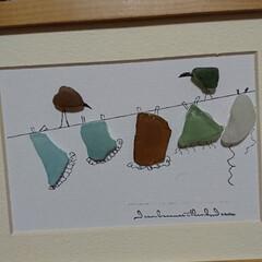 リサイクル/シーグラス/DIY/雑貨/ハンドメイド/住まい/... シーグラスアート‼️ リサイクルショップ…(2枚目)