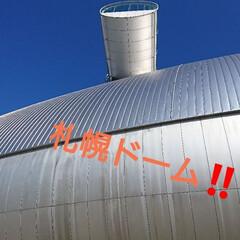 北海道/LIMIAおでかけ部/おでかけ/風景/ブルー 札幌ドーム‼️