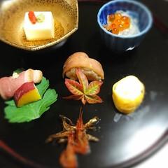 旅行 今夜は函館割烹高級旅館で懐石料理😋 美味…