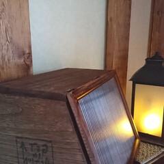 木工雑貨/ブレッドケースカフェ風/気まぐれご~やん😎工務店🛠️/収納/雑貨/DIY/... おはようございます🤗 昨日は北海道凄い雨…(2枚目)