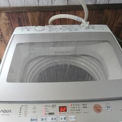 中古 アウトレット新古B級品7.0kg 全自動洗濯機 ハイアール アクア AQW-GS70F 2018年製 送風乾燥機能 | ハイアール(洗濯機)を使ったクチコミ「ビッグダディ😎DIY‼️ 洗濯機✨届きま…」(2枚目)