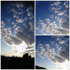 からっと北海道‼️/秋の雲 今日はよい天気🌞でした❕ 洗濯物も気持ち…