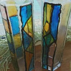 空き瓶/ターナーガラスペイメント/令和の一枚/至福のひととき/ハンドメイド/DIY/... 北海道暑い💦💦 今日は静かに、ガラス瓶に…