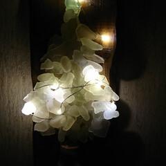 シーグラスアート/次のコンテストはコレだ!/セリア/100均/DIY/雑貨/... シーグラスを使い、クリスマスツリー雑貨ハ…(2枚目)