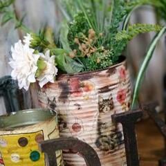 デコパージュ/お家時間DIY/DIY女子/北海道/介護施設/リメ缶DIY/... 気まぐれご〜やん😎DIY🛠️ 久しぶりに…(2枚目)