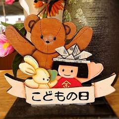 トールペイント/五月人形/こどもの日/ハンドメイド/わたしの手作り 五月人形作りました🛠️ お雛様も終わり、…(2枚目)