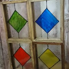 ターナー色彩 ガラスペイント 泡玉 40ml(ペンキ、塗料)を使ったクチコミ「セリアのガラスフォトフレームを使った、フ…」(4枚目)