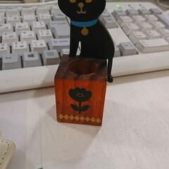 猫ちゃん雑貨/印鑑/黒猫/猫 あと、1時間半で仕事が終わる😔 私のデス…