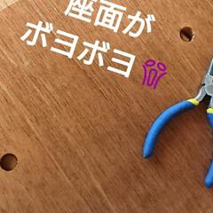 椅子よみがえれ/リサイクル/DIY 同級生のカフェ☕ 椅子「なおしてー」と・…(2枚目)