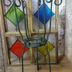 ターナー色彩 ガラスペイント 泡玉 40ml(ペンキ、塗料)を使ったクチコミ「セリアのガラスフォトフレームを使った、フ…」(6枚目)