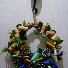 プレゼント/北海道寒いべさ〜/クリスマスリース/まだまにうかな!/クリスマス 今晩は🎵 今日はちょっと心配な健診セーフ…