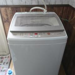 中古 アウトレット新古B級品7.0kg 全自動洗濯機 ハイアール アクア AQW-GS70F 2018年製 送風乾燥機能 | ハイアール(洗濯機)を使ったクチコミ「ビッグダディ😎DIY‼️ 洗濯機✨届きま…」