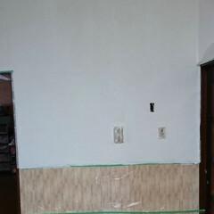 珪藻土 ローラーで簡単に塗れる珪藻土塗料 かんたん・あんしん珪藻土 10kg*WH10/BR10__ka-(ペンキ、塗料)を使ったクチコミ「再投稿です! リビングリノベーション🛠️…」(5枚目)