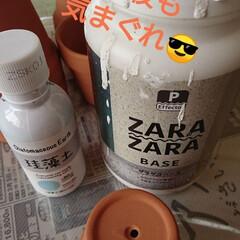 アンティーク エイジング 塗料 P-Effector ザラザラベース(ペンキ、塗料)を使ったクチコミ「今夜も気まぐれご~やん😎🛠️ 雑貨作り💦…」