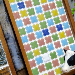 タイルのある生活/タイル雑貨/お家時間DIY/北海道/ハンドメイド/手作り/... タイル雑貨DIY! こちら、金銭トレーで…(2枚目)