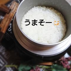 新米✴️/羽釜ご飯🎵/ご飯 私はごはん派⤴️⤴️⤴️ 新米✴️の季節…(3枚目)