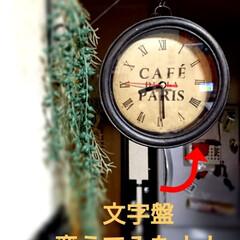 アイアンペイント/アンティーク/ダイソー/100均/DIY/雑貨/... ダイソー500円壁掛けアンティーク時計D…