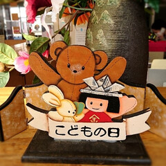 トールペイント/五月人形/こどもの日/ハンドメイド/わたしの手作り 五月人形作りました🛠️ お雛様も終わり、…(3枚目)
