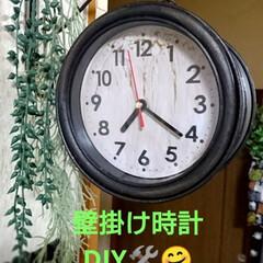 アンティーク/壁掛け時計リメイク/アイアンペイント/ダイソー/100均/DIY/... 今日は前から気になっていた、アンティーク…