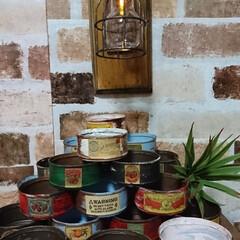 リメ缶/キャンドゥ/ダイソー/セリア/100均/DIY/... 週末のハンドメイド市のため、リメ缶作製中🎵