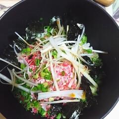 最高✴️/牛とろフレーク/北海道十勝/フード/おうちごはん 「生とろフレーク丼」今夜は酢飯で頂きまし…