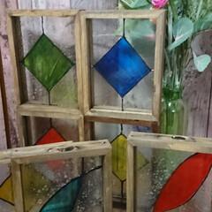 ターナー色彩 ガラスペイント 泡玉 40ml(ペンキ、塗料)を使ったクチコミ「セリアのガラスフォトフレームを使った、フ…」(5枚目)