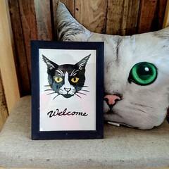 猫/切り絵 切り絵出来ました‼️
