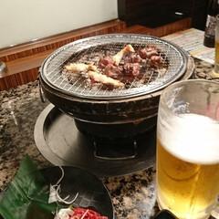 焼き肉 やっと帰り、晩ごはん作る放棄し、焼き肉屋…