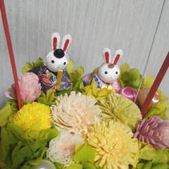 ひな祭り 昨年作った ひな祭りのプリザブドフラワー…(1枚目)