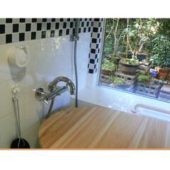 浴室/浴室・風呂/アメリカンバスルーム/デザインバスルーム/浴室リフォーム/バスルームリフォーム 実は!この浴室は女性のお客様がデザインし…
