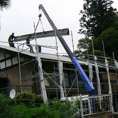 屋根工事/屋根リフォーム/大きい屋根葺き替え 屋根工事のご紹介です。  個人のご自宅の…