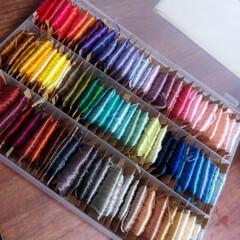 ハンドメイド/セリア/はじめてフォト投稿 刺繍糸の整頓に。 セリアの積み重ね出来る…(1枚目)
