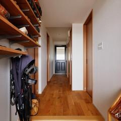 玄関/玄関収納/靴収納/ベビーカー/廊下/自然素材/...