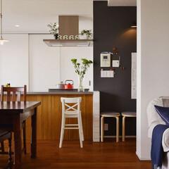 リノベーション/黒板塗装/インテリア/キッチン/カウンター/キッチンカウンター/...