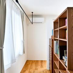 リノベーション/アイアン/洗濯物干し/パーテーション/書斎スペース/戸建て