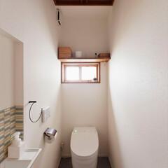 トイレ/リノベーション/手洗い/タイル/アクセントタイル/昭和モダン