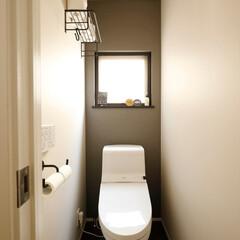 トイレ/グレー/リノベーション/採光/戸建/2×4/...