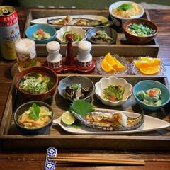 家庭料理/夕飯/晩御飯/レトログラス/低糖質ごはん/ゆるゆる糖質オフ/... 2020.8.31 月曜日 今日の晩御飯…