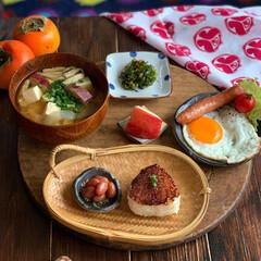 おうちカフェごはん/おうちごはん/和食/ゆるゆる低糖質制限/朝ごはん 2020.11.16 月曜日 今日の朝こ…