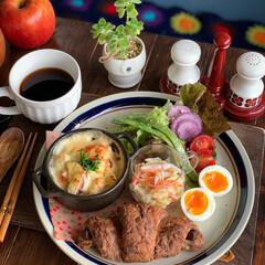 グラタン/ワンプレート/お昼ごはん/ランチ/おうちカフェごはん/レトロ食器/... 2020.11.4 水曜日 今日のお昼こ…(2枚目)