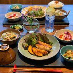 献立/家庭料理/低糖質ごはん/健康ごはん/LIMIAごはんクラブ/晩ご飯 昨日の夕食です。  2020.6.4 木…