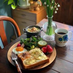ワンプレート/朝ごパン/朝ごはん/献立/LIMIAごはんクラブ/おうちごはん/... 2020.4.8 水曜日 今日の朝ごパン…