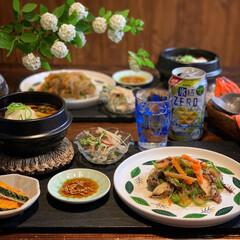 野菜たっぷり/韓国料理/手料理/家庭料理/夕飯/晩御飯/... 2020.4.19 日曜日 今日の晩御飯…