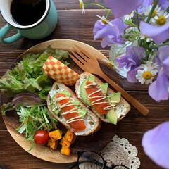 花のあるくらし/朝食/ワンプレート/朝ごはん/朝ごパン/リミアな暮らし/... 2020.2.28 金曜日 今日の朝ごパ…