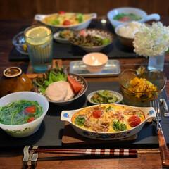 健康ごはん/ファイヤーキング/レトロ食器/夕飯/手料理/LIMIAごはんクラブ/... 2020.6.14 日曜日 今日の晩御飯…