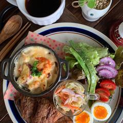 グラタン/ワンプレート/お昼ごはん/ランチ/おうちカフェごはん/レトロ食器/... 2020.11.4 水曜日 今日のお昼こ…(1枚目)